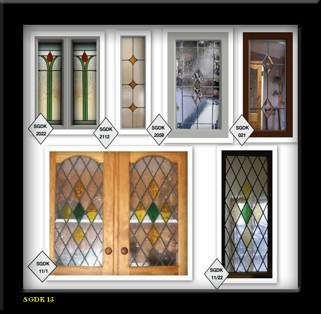 Glass Types For Kitchen Cabinets: Lead & Stain Glass Cabinet Door Inserts 5